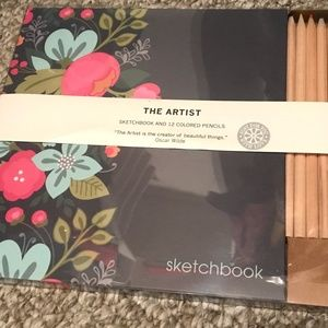 Sketchbook and colored pencil set - brand new